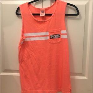 PINK Victoria's Secret orange tank top!